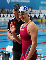 Brearna Crawford, 50m Butterfly NZ Record. New Zealand Short Course Swimming Championships, National Aquatic Centre, Auckland, New Zealand, Tuesday 1st October 2019. Photo: Simon Watts/www.bwmedia.co.nz/SwimmingNZ