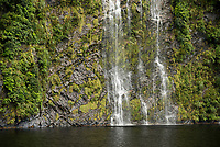Waterfall in Doubtful Sound, Fiordland National Park, UNESCO World Heritage Area, Southland, New Zealand, NZ