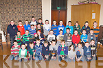 Some of the talented young footballers from Kilcummin GAA club who were honoured at their annual Juvenile awards night in the Kilcummin GAA clubhouse on Wednesday night..