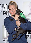 Kaley Cuoco-Sweeting poses with an adoptable pup from Downtown Dog Rescue at the The 4th Annual Stand Up for Pits event at the Hollywood Improv in West Hollywood, California on November 02,2014                                                                               © 2014 Hollywood Press Agency