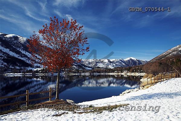 Tom Mackie, CHRISTMAS LANDSCAPE, photos, Lago di Scanno in Winter, Abruzzo, Italy, GBTM070544-1,#XL# Landschaften, Weihnachten, paisajes, Navidad