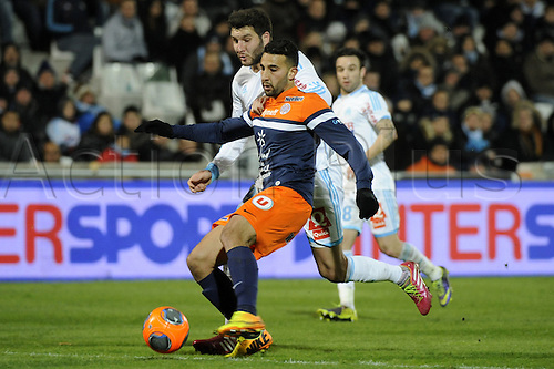29.11.2013. Marseilles, France. French League 1 football. Marseilles versus Montpellier.  El Kaoutari (MHSC)