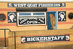 West Quay Fisheries fish shop, Bickerstaff fishing company, Newhaven, East Sussex, England