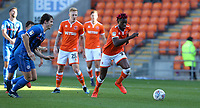 Blackpool's Armand Gnanduillet chased by Rochdale's Jordan Williams (left) <br /> <br /> Photographer Stephen White/CameraSport<br /> <br /> The EFL Sky Bet League One - Blackpool v Rochdale - Saturday 6th October 2018 - Bloomfield Road - Blackpool<br /> <br /> World Copyright &copy; 2018 CameraSport. All rights reserved. 43 Linden Ave. Countesthorpe. Leicester. England. LE8 5PG - Tel: +44 (0) 116 277 4147 - admin@camerasport.com - www.camerasport.com