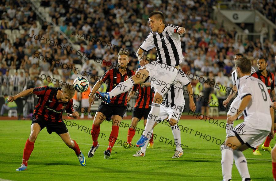Fudbal Football Soccer<br /> UEFA Champions league-2nd qualifying round<br /> Partizan v HB Torshavn (Faroe Islands)<br /> Vojislav Stankovic (C)<br /> Beograd, 07.15.2014.<br /> foto: Srdjan Stevanovic/Starsportphoto &copy;