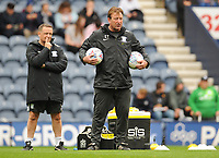 Preston North End First Team Coach Steve Thompson during the pre-match warm-up <br /> <br /> Photographer Kevin Barnes/CameraSport<br /> <br /> The EFL Sky Bet Championship - Preston North End v Barnsley - Saturday 5th October 2019 - Deepdale Stadium - Preston<br /> <br /> World Copyright © 2019 CameraSport. All rights reserved. 43 Linden Ave. Countesthorpe. Leicester. England. LE8 5PG - Tel: +44 (0) 116 277 4147 - admin@camerasport.com - www.camerasport.com