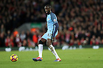 Yaya Toure of Manchester City during the English Premier League match at Anfield Stadium, Liverpool. Picture date: December 31st, 2016. Photo credit should read: Lynne Cameron/Sportimage