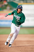 Fort Wayne TinCaps third baseman Luis Almanzar (13) runs the bases during a game against the West Michigan Whitecaps on May 17, 2018 at Parkview Field in Fort Wayne, Indiana.  Fort Wayne defeated West Michigan 7-3.  (Mike Janes/Four Seam Images)