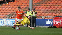 Fleetwood Town's Nathan Sheron is shown a red card by Referee Darren Bond for this tackle on Blackpool's Matty Virtue<br /> <br /> Photographer Stephen White/CameraSport<br /> <br /> The EFL Sky Bet League One - Blackpool v Fleetwood Town - Monday 22nd April 2019 - Bloomfield Road - Blackpool<br /> <br /> World Copyright © 2019 CameraSport. All rights reserved. 43 Linden Ave. Countesthorpe. Leicester. England. LE8 5PG - Tel: +44 (0) 116 277 4147 - admin@camerasport.com - www.camerasport.com<br /> <br /> Photographer Stephen White/CameraSport<br /> <br /> The EFL Sky Bet Championship - Preston North End v Ipswich Town - Friday 19th April 2019 - Deepdale Stadium - Preston<br /> <br /> World Copyright © 2019 CameraSport. All rights reserved. 43 Linden Ave. Countesthorpe. Leicester. England. LE8 5PG - Tel: +44 (0) 116 277 4147 - admin@camerasport.com - www.camerasport.com