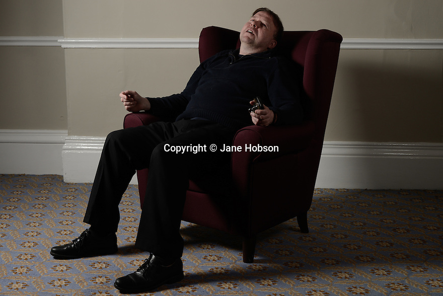 Harrogate, UK. 09.05.2012. Sitting Room Comedy club at the St George Hotel, with MC Tom Taylor, Keith Farnan, Stephen Carlin and Steve Gribbin, headlining. Picture shows: Steve Gribbin