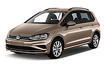 2018 Volkswagen Golf Sportsvan Comfort Line  5 Door MPV angular front stock photos of front three quarter view