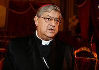 Il Cardinale Crescenzio Sepe  durante la cerimonia di innagurazione anno giudiziario in Campania <br /> Salone dei Busti Castel Capuano Napoli