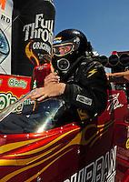 May 30, 2009; Topeka, KS, USA: NHRA top fuel dragster driver Scott Palmer during qualifying for the Summer Nationals at Heartland Park Topeka. Mandatory Credit: Mark J. Rebilas-