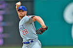 3 September 2012: Chicago Cubs pitcher Michael Bowden in action against the Washington Nationals at Nationals Park in Washington, DC. The Nationals edged out the visiting Cubs 2-1, in the first game of heir 4-game series. Mandatory Credit: Ed Wolfstein Photo