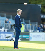 8th September 2017, RDS Arena, Dublin, Ireland; Guinness Pro14 Rugby, Leinster versus Cardiff Blues; Leo Cullen Leinster manager watching his players warming up