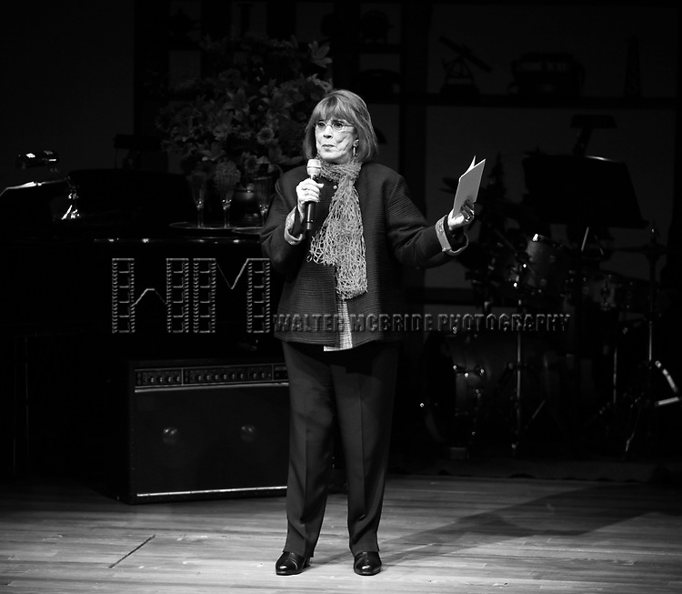 "Phyllis Newman performing at the ""Nothing Like A Dame: A Party For Comden And Green"" at  the Laura Pels Theatre in New York City."
