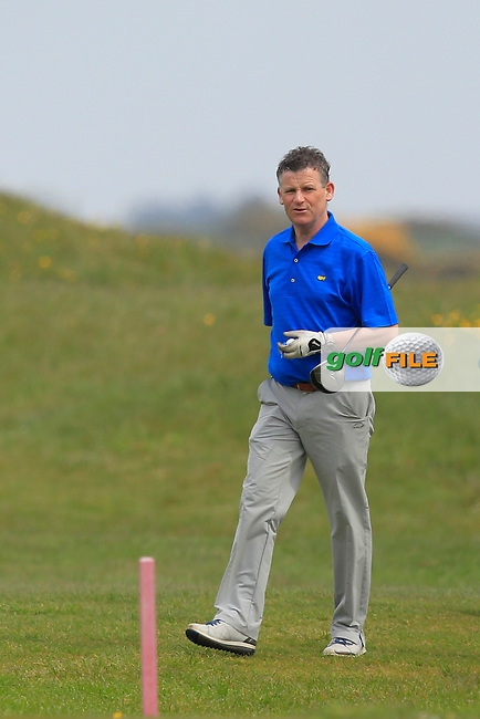 Greg Allen (RTE) on the 3rd during the Flogas Irish Amateur Open Championship Am-Am at Royal Dublin on Monday 9th May 2016.<br /> Picture:  Thos Caffrey / www.golffile.ie