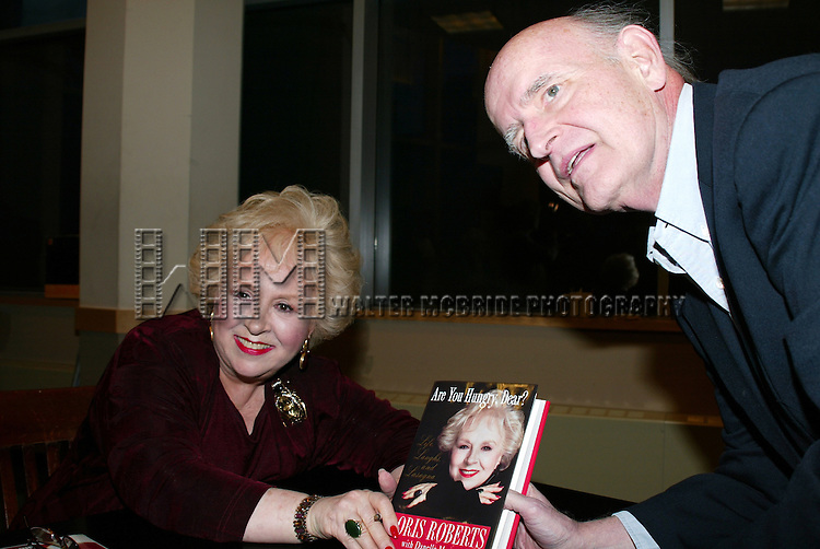 PETER BOYLE visits his friend / co-star DORIS ROBERTS who's Promoting her new book, ARE YOU HUNGRY, DEAR ? at a book signing held at Barnes &amp; Noble, New York City.<br /> April 14, 2003