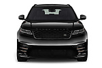 Car photography straight front view of a 2018 Land Rover Range Rover Velar R-Dynamic SE 4WD 5 Door SUV