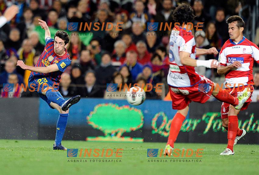 Cristian Tello (Barcellona).Barcellona 20/03/2012 Nou Camp.Football Calcio 2011/2012 Liga Spagnola.Barcellona Vs Granada.Foto Insidefoto / Paco Largo / Panoramic.ITALY ONLY