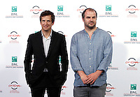 "Il regista francese Cedric Anger posa con l'attore Guillaume Canet, a sinistra, durante un photocall per la presentazione del suo film ""La prochaine fois je viserai le coeur"" al Festival Internazionale del Film di Roma, 20 ottobre 2014.<br /> French director Cedric Anger poses with actor Guillaume Canet, left, for a photocall to present his movie ""La prochaine fois je viserai le coeur"" (""Next time I'll aim for the heart"") during the international Rome Film Festival at Rome's Auditorium, 20 October 2014.<br /> UPDATE IMAGES PRESS/Isabella Bonotto"