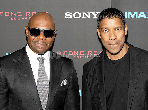 New York, NY-September 22: Director Antoine Fuqua and Actor Denzel Washington attends a special screening of The Equalizer at the AMC Lincoln Square 13 IMAX on September 22, 2014 in New York City.  Credit: John Palmer/MediaPunch