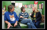 Graeme Cornick, Noel Gallagher & Meg Mathews - Hydestile Wildlife Hospital, Godalming, Surrey - 2000