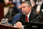 Department of Motor Vehicles Director Troy Dilliard testifies in a committee hearing at the Legislative Building in Carson City, Nev., on Thursday, Feb. 5, 2015. <br /> Photo by Cathleen Allison