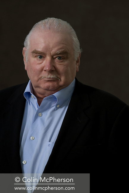 Acclaimed British historian Peter Ackroyd, pictured at the Edinburgh International Book Festival where he talked about his latest book entitled 'History of England'. The three-week event is the world's biggest literary festival and is held during the annual Edinburgh Festival. The 2012 event featured talks and presentations by more than 500 authors from around the world.