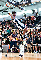 WASHINGTON, DC - NOVEMBER 16: Jameer Nelson Jr. #12 of George Washington dunks during a game between Morgan State University and George Washington University at The Smith Center on November 16, 2019 in Washington, DC.