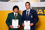 Boys Touch finalists Clayton Ngawharau & Bryn Hall. ASB College Sport Auckland Secondary School Young Sports Person of the Year Awards held at Eden Park on Thursday 12th of September 2009.