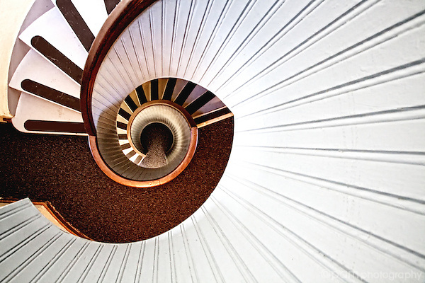 Light house stair case at Point Loma
