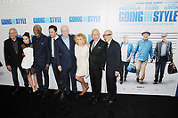 www.acepixs.com<br /> March 30, 2017  New York City<br /> <br /> Christopher Lloyd, Joey King, Morgan Freeman, Zach Braff, Michael Caine, Ann-Margaret, Alan Arkin and Donald De Line attending the 'Going In Style' New York Premiere at SVA Theatre on March 30, 2017 in New York City.<br /> <br /> Credit: Kristin Callahan/ACE Pictures<br /> <br /> <br /> Tel: 646 769 0430<br /> Email: info@acepixs.com
