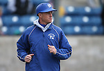 Western Nevada College's Head Coach DJ Whittemore takes the field against the College of Southern Idaho at John L. Harvey Field, in Carson City, Nev., on Friday, March 28, 2014. <br /> Photo by Cathleen Allison/Nevada Photo Source