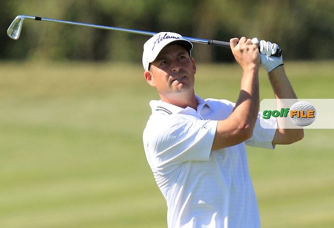 David Howell (ENG) on the 18th fairway during Round 3 of the Open de Espana  in Club de Golf el Prat, Barcelona on Saturday 16th May 2015.<br /> Picture:  Thos Caffrey / www.golffile.ie