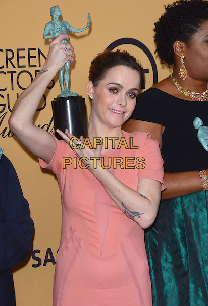 25 January 2015 - Los Angeles, California - Taryn Manning.<br /> 21st Annual SAG Awards Press Room held at the Los Angeles Shrine Exposition Center. <br /> CAP/ADM/BT<br /> &copy;BT/ADM/Capital Pictures