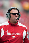 Wisconsin Badgers head coach Bret Bielema during an NCAA college football game against the San Jose State Spartans on September 11, 2010 at Camp Randall Stadium in Madison, Wisconsin. The Badgers beat San Jose State 27-14. (Photo by David Stluka)