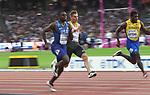 Christian Coleman (USA) in the 100m heats. IAAF World athletics championships. London Olympic stadium. Queen Elizabeth Olympic park. Stratford. London. UK. 04/08/2017. ~ MANDATORY CREDIT Garry Bowden/SIPPA - NO UNAUTHORISED USE - +44 7837 394578