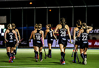 Blacksticks players during the international hockey match between the Blacksticks Women and India, Rosa Birch Park, Pukekohe, New Zealand. Tuesday 16  May 2017. Photo:Simon Watts / www.bwmedia.co.nz