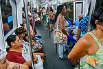 Passageiros do Metro, Rio de Janeiro. 2019. Foto © Juca Martins
