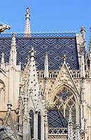 Neogotische Votivkirche erbaut 1856-1859 von Heinrich Ferstel, Rooseveltplatz 8, Wien, &Ouml;sterreich, UNESCO-Weltkulturerbe<br /> neo-Gothic Votiv-Vhurch built 1856-1859 by Heinrich Ferstel, Vienna, Austria, world heritage