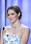 Katharine McPhee attend the 2018 Tony Awards Nominations Announcement at The New York Public Library for the Performing Arts on May 1, 2018 in New York City.