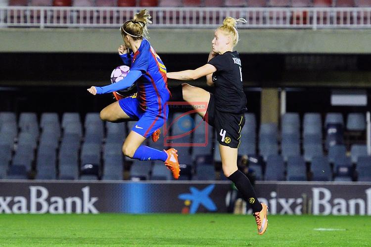 UEFA Women's Champions League 2016/2017.<br /> Round of 16 - First Leg<br /> FC Barcelona vs Twente: 1-0.<br /> Barbara Latorre vs Kerkdijk.