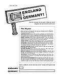 England v. Germany! This kit contains all you need to help you watch England lose and celebrate afterwards.