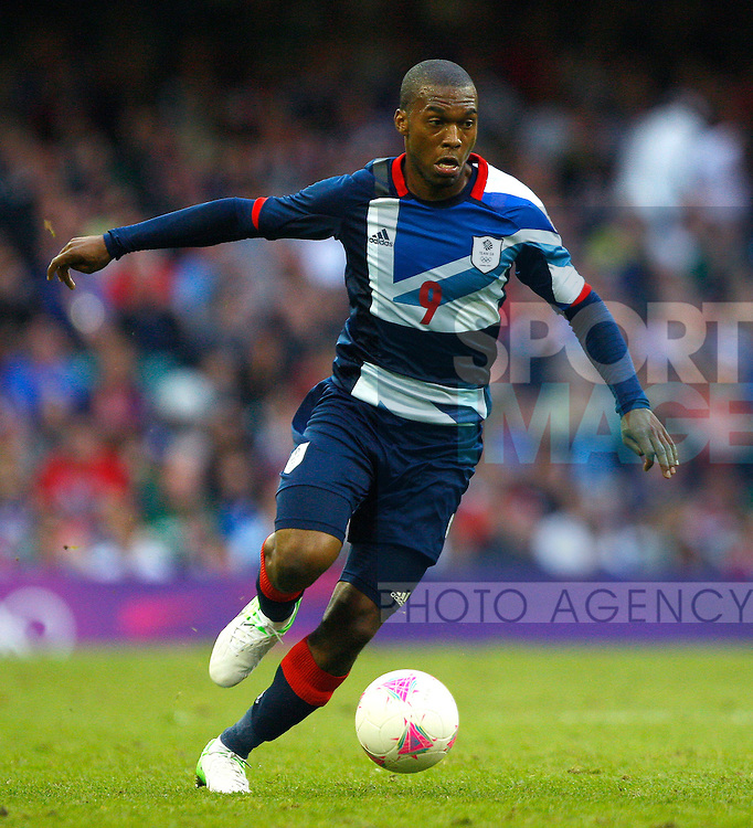 Daniel Sturridge of Great Britain..London 2012 Men's Olympic football, Group A, Great Britain v Uruguay at the Millennium Stadium, Cardiff, Wales on the 1st August 2012. Pic Jake Badger/SPORTIMAGE...
