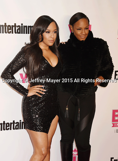 WEST HOLLYWOOD, CA - NOVEMBER 15: TV personalities Shaunie O'Neal (L) and Jackie Christie attend VH1 Big In 2015 With Entertainment Weekly Awards at Pacific Design Center on November 15, 2015 in West Hollywood, California.