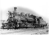 D&amp;RGW #471 K-28 left front view.<br /> D&amp;RGW  Antonito, CO  8/1940