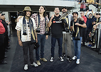 "LOS ANGELES - AUGUST 21:  Richard Cabral, Antonio Jaramillo, JD Pardo, Clayton Cardenas and Michael Irby at FX's ""Mayans M.C."" Activation at Los Angeles Football Club at Banc of California Stadium on August 21, 2019 in Los Angeles, California. (Photo by Scott Kirkland/FX Networks/PictureGroup)"