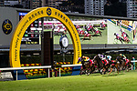 Jockeys riding their horses during Hong Kong Racing at Happy Valley Racecourse on October 28, 2018 in Hong Kong, Hong Kong. Photo by Yu Chun Christopher Wong / Power Sport Images