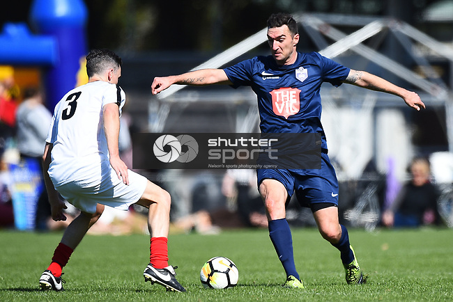 NELSON, NEW ZEALAND - Get Bullsy Charity Football Match. Trafalgar Park, Nelson, New Zealand. Saturday 29 September 2018. (Photo by Chris Symes/Shuttersport Limited)